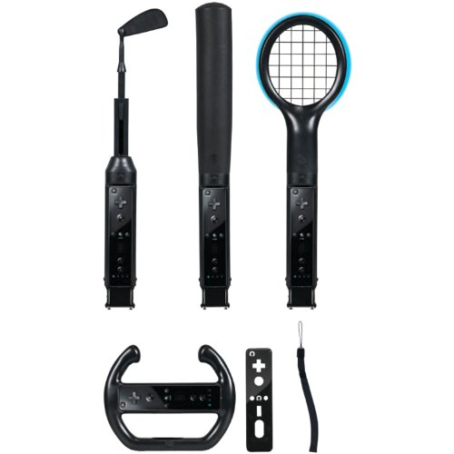 Accessory Kit Wii (CTA Digital Wii Grand Slam Sports Pack (Black))