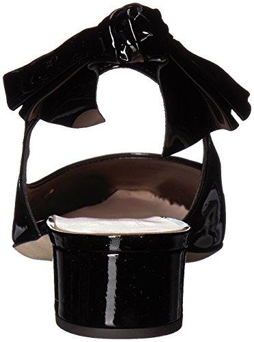 Heeled york kate spade new Sandal Lucia Black Patent Women's EOxXO7w