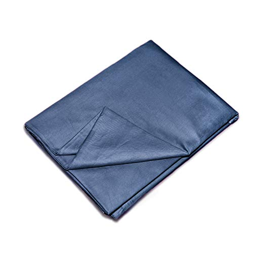 - YEMYHOM 100% Cotton Removable Duvet Covers for Weighted Blankets Inner Layer (48'' x 72'' Duvet Cover, Blue)