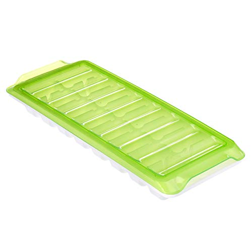 Amazon Brand – Solimo Ice Cube Tray with Lid Set, Set of 16, Green Price & Reviews