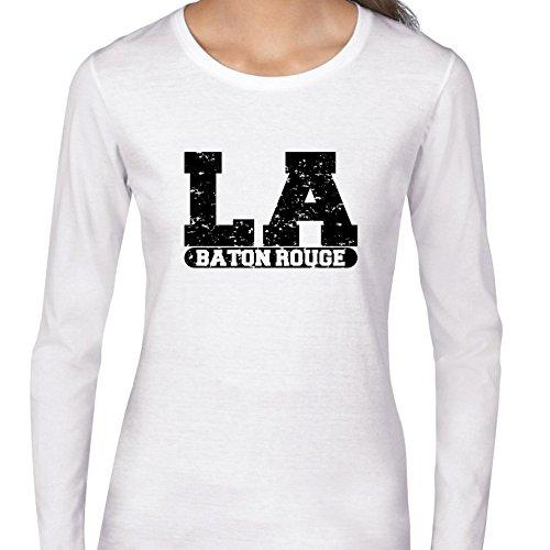 Baton Rouge, Louisiana LA Classic City State Sign Women's Long Sleeve T-Shirt -