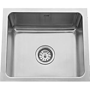 Silver LINE Single Bowl Kitchen Sink 18″x16″x9″ Matt Finish Grade 304