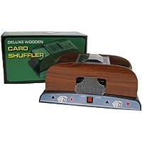 Trademark Poker 10-37581-A Card Shuffler Deluxe Wooden, 1-2 Deck