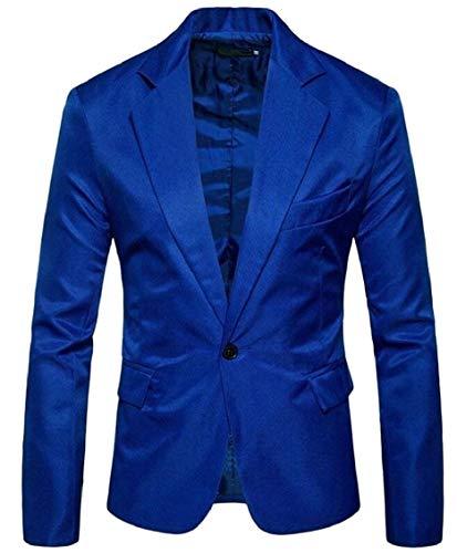 Confortable Veste Blazer Couleur Hommes 1 Manches Battercake À Tuxedo 2 Mariage Vintage Fit Costume Longues De Élégant Bouton Fête Slim zUvnvSxwd