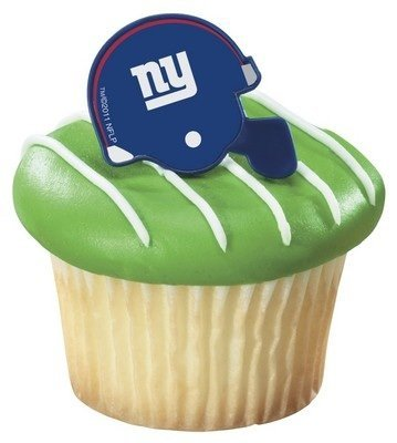 - NFL New York Giants Football Helmet Cupcake Rings - 24 pc