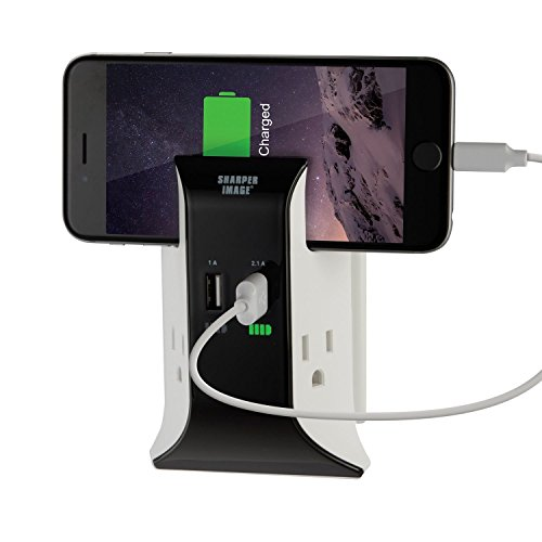 Sharper Image Visual Charge USB Wall Plate Charger by Sharper Image