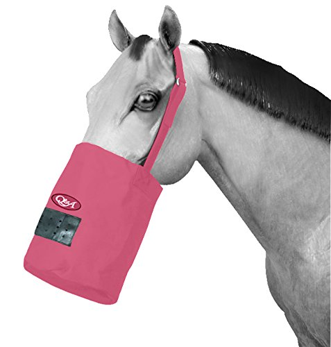 Q&A SUPPLY Nylon Feed Bag in HOT Pink