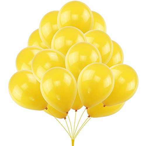 KUMEED Lemon Yellow Balloon Latex Balloons Globos Party Birthday Wedding Balloons Pack of - Balloons Latex Yellow 12 Inch