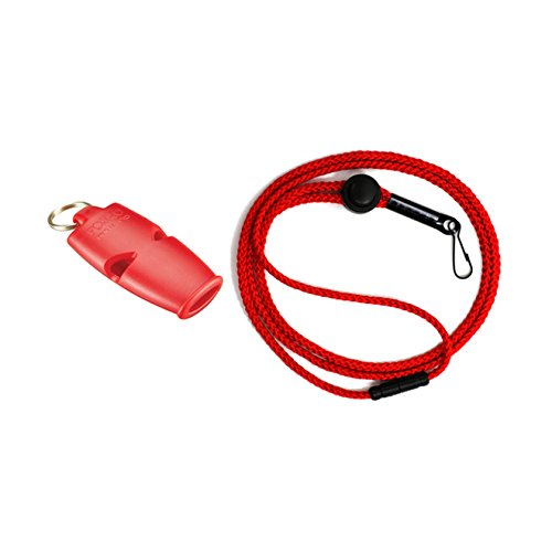 Fox 40 Micro Whistle - Fox 40 Micro Safety Whistle with Breakaway Lanyard Red