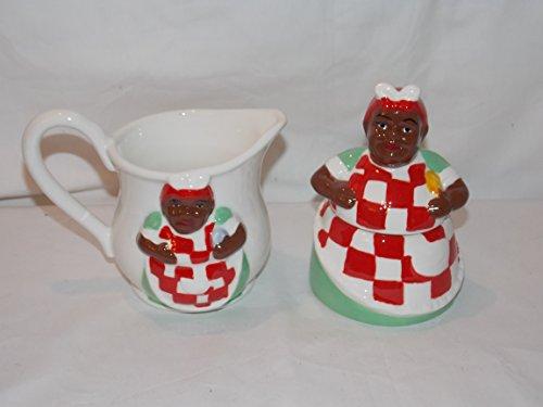 3d-ceramic-aunt-jemima-cook-creamer-sugar-jar-canister-holder