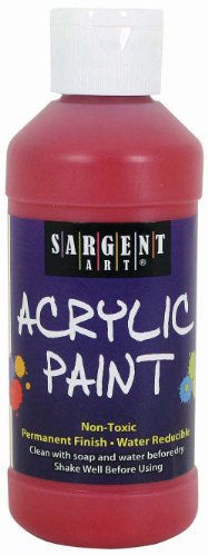 (Sargent Art 22-2320 8-Ounce Acrylic Paint, Red)