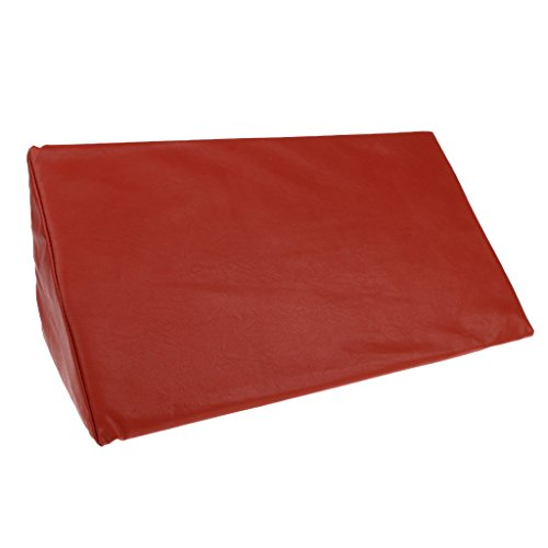 SM SunniMix High Density Foam Anti Bedsore Bed Wedge Pillow Elevation Cushion Leg Lumbar Support for Incontinence Patient Sleeping Back Leg Foot Rest Or Elevation - Red by SM SunniMix