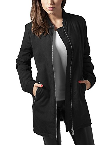 Long Bomber Donna Urban 7 black Jacket Classics Peached Nero Ladies Giacca q0I4It