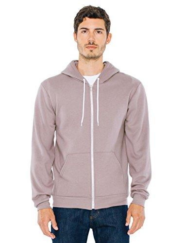 (American Apparel Men Flex Fleece Zip Hoodie Size 2XL Pewter)