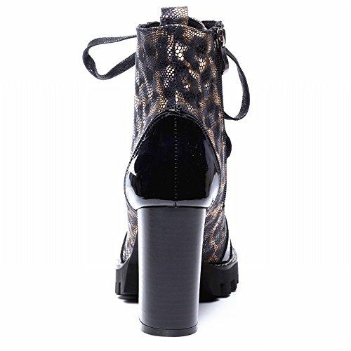 Estilo Gruesos Forman Martin Botas Gruesos Las Occidental Los Atractivos Zapatos de Rongli SHOEES con Impermeables Zapatos Grandes de UFPwXAnq