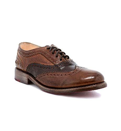 BED STU Women's Lita Oxford Shoe (10, Tan Teak Rustic Mason)