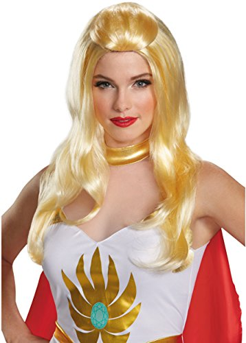 She Ra Fancy Dress Costume (Disguise Women's She-Ra Costume Wig, Multi, One Size)