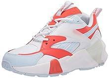 Reebok Women's AZTREK Double Mix Sneaker, Vivid Orange/Glass Blue/White, 7 M US