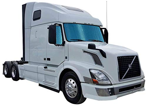 'BIG RIG' SEMI TRUCK WINDOW SHADE REFLECTOR KIT. COMMERCIAL GRADE , DOUBLE THICKNESS. TOTAL WINDOW COVERAGE: 48