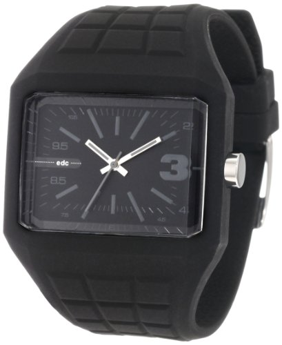 edc by esprit Men's EE100571001 Rubber Rebel Cool Black Watch