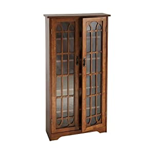 Amazon Com Window Pane Media Cabinet Oak Kitchen Amp Dining