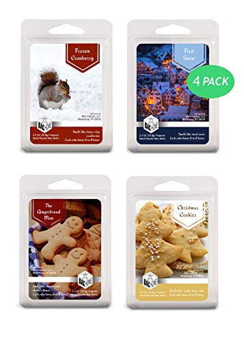 BAC Home 4 Pack - Christmas Collection Soy Blend Scented Wax