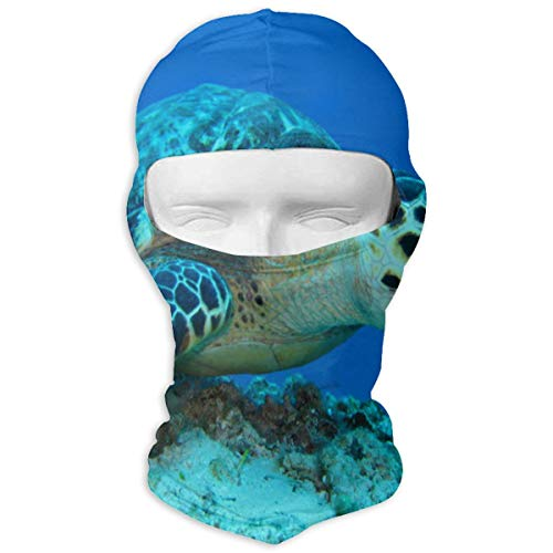 YIXKC Balaclava Small Turtle Resting On A Coral Unique Motorcycle Cycling Bike Bandana Winter Sports for Adults ()