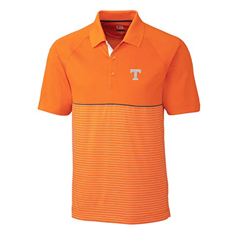 Tennessee Volunteers Ncaa Stripes - Cutter & Buck NCAA Tennessee Volunteers Short Sleeve Junction Stripe Hybrid Polo, L
