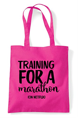 Shopper On For Netflix Tote Fuschia Bag Training Marathon A Utdwq00