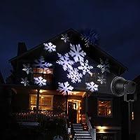 58c1addf1f3 Luces del Proyector Navidad LED Luz de Proyección Paisaje Copo de Nieve  Blanca Dinámicos Estáticos Luz. Cargando imágenes.