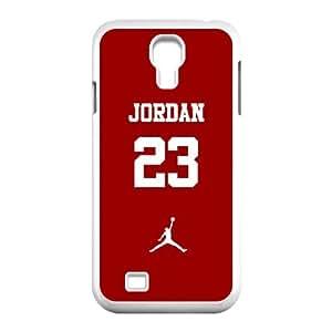 Samsung Galaxy S4 9500 Cell Phone Case White Jordan logo MJN Plastic Design Phone Case