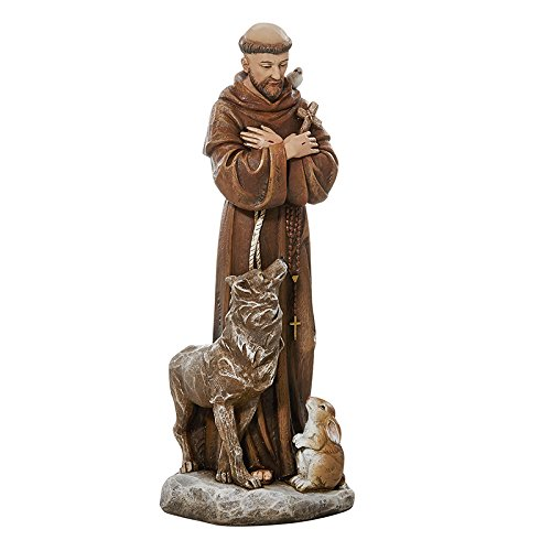 AT001 Religious & Catholic Gifts, Toscana 8'' Statue - Saint Francis with the animals