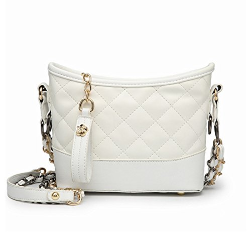 White Bag Female Color Bag Shoulder Chain Messenger Shoulder Square White Lingla Metal Strap Bag 7nHq8wvx6