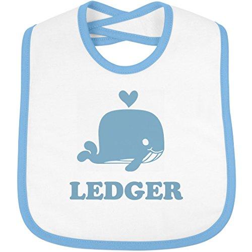 Cute Whale Bib For Baby Ledger: Infant Rabbit Skins Contrast Trim Bib Ledger Outfit