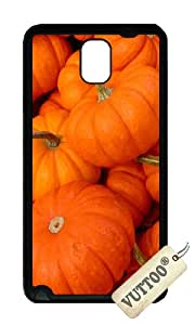 Samsung Note 3 Case,VUTTOO Cover With Photo: Pumpkin Patch For Samsung Galaxy Note 3 / N9000 / Note3 - TPU Black Soft Case