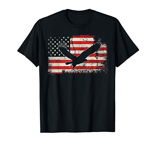 Eagle American Flag TShirt Cool Retro Vintage