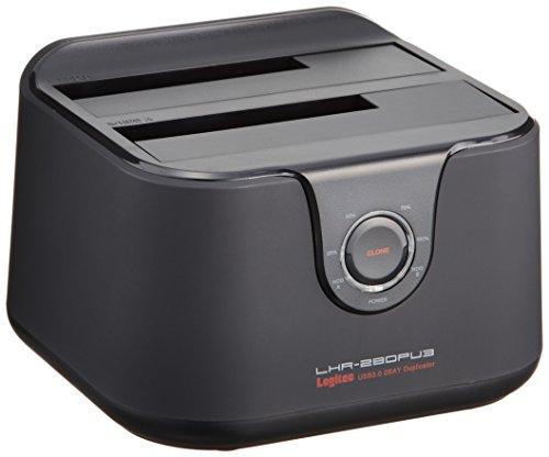 Logitec HDDスタンド USB3.0接続 4TB対応 ガチャベイ HDDコピー機能付き LHR-2BDPU3 [フラストレーションフリーパッケージ (FFP)]