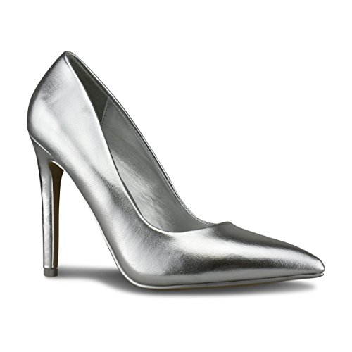 Premier Standard - Women's Heel Pump Shoes, TPS Heels-Ydnic Silver Metallic Size 7
