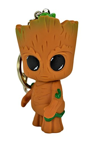 Marvel Guardians of the Galaxy 3D Ultra Detail Baby Groot Keychain-Ring-Bag Charm.Turnable - Baby Groot Keychain