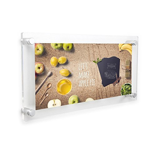 Acrylic Floating Frame 8×10 Inch 3 Opening Clear Wall Frames Panoramic Picture Collage Frame 13″x28″