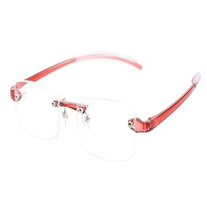 Deylaying Gafas de lectura sin montura - Estilo Diseño Retro Súper ligero  Pequeña Rectangulares Montura al be086053d015