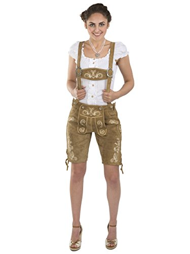 pink Bavarian brown Brown leather Women Pants Lederhosen and trouser Oktoberfest Bright Beerfest Hotpants Ladies Eqw84Y
