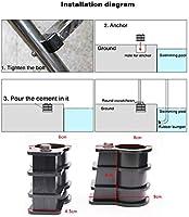 Yongirl - Kit de repuesto para escalera de piscina y parachoques de goma con anclaje de piscina y escudete redondo de piscina: Amazon.es: Deportes y aire libre