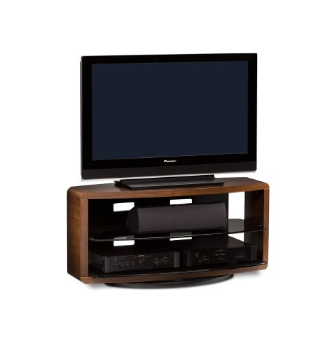 BDI Valera 9724 Open Double Wide Entertainment Cabinet, Chocolate Stained Walnut