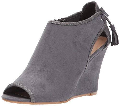 CL by Chinese Laundry Women's Brinley Wedge Pump, Charcoal Suede-Snake, 10 M US
