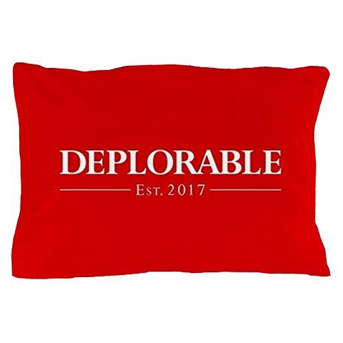 CafePress Deplorable Est 2017 Standard Size Pillow Case, 20