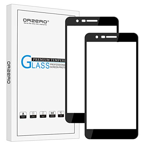 [2 Pack] Orzero For LG K30 / K10 Plus 2018 / K10 Alpha 2018 / K10 2018 Tempered Glass Screen Protector, 2.5D Arc Edges 9 Hardness HD Full Coverage [Lifetime Replacement Warranty]