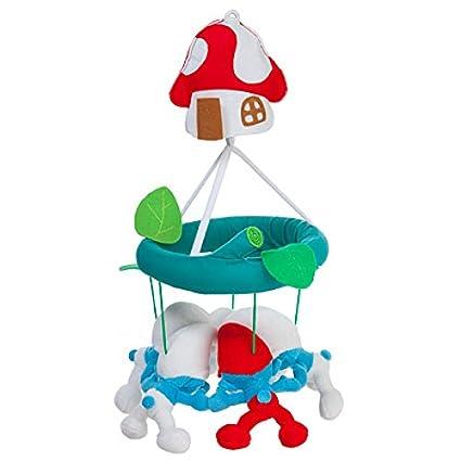 rätt Inicio Pitufos diseño Musical cama funda para bebé ...