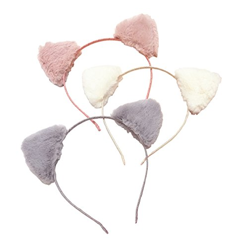 Headbands Pointed Cat Ear Cute Fashion Fluffy Hairband Hoop Band for Birthday Party Headwear Cosplay Costume Kids Women -