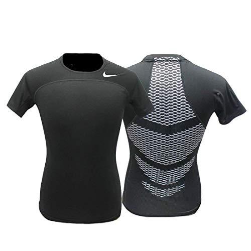 Nike Men's Pro Combat Hypercool Compression Speed Shirt (XL, Black)